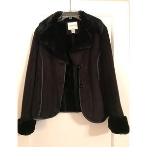 Harold's Black Heavy Lined Faux Fur Coat